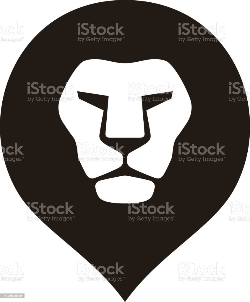 lion head logo icon, vector illustration vector art illustration