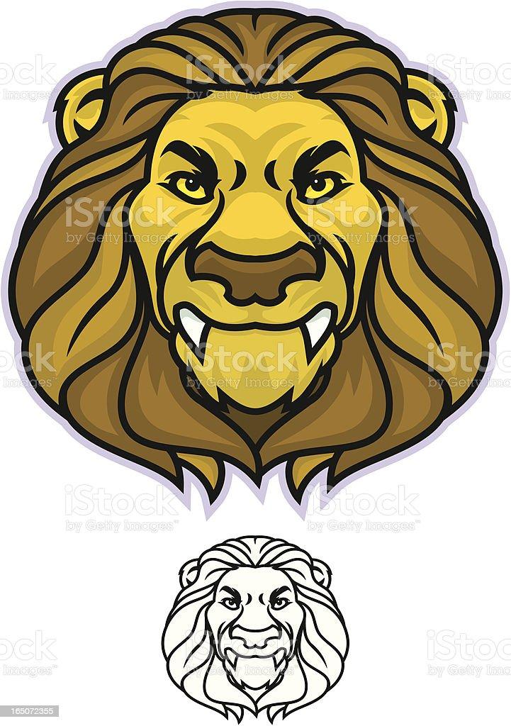 Lion Head royalty-free stock vector art