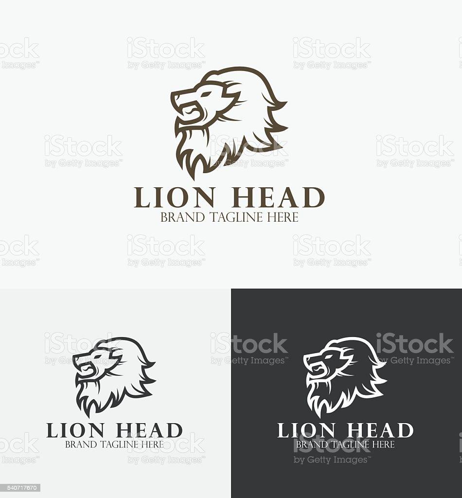 Lion Head Vector Logo vector art illustration