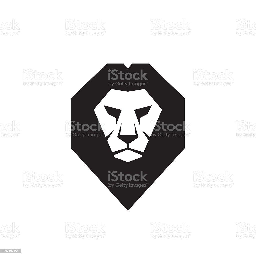 Lion head - vector sign concept illustration. vector art illustration