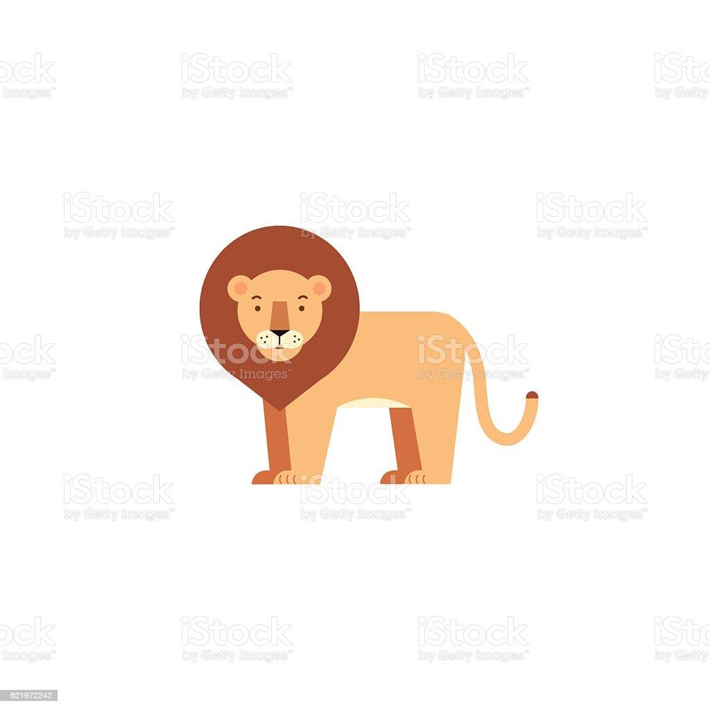 Lion icon vector art illustration