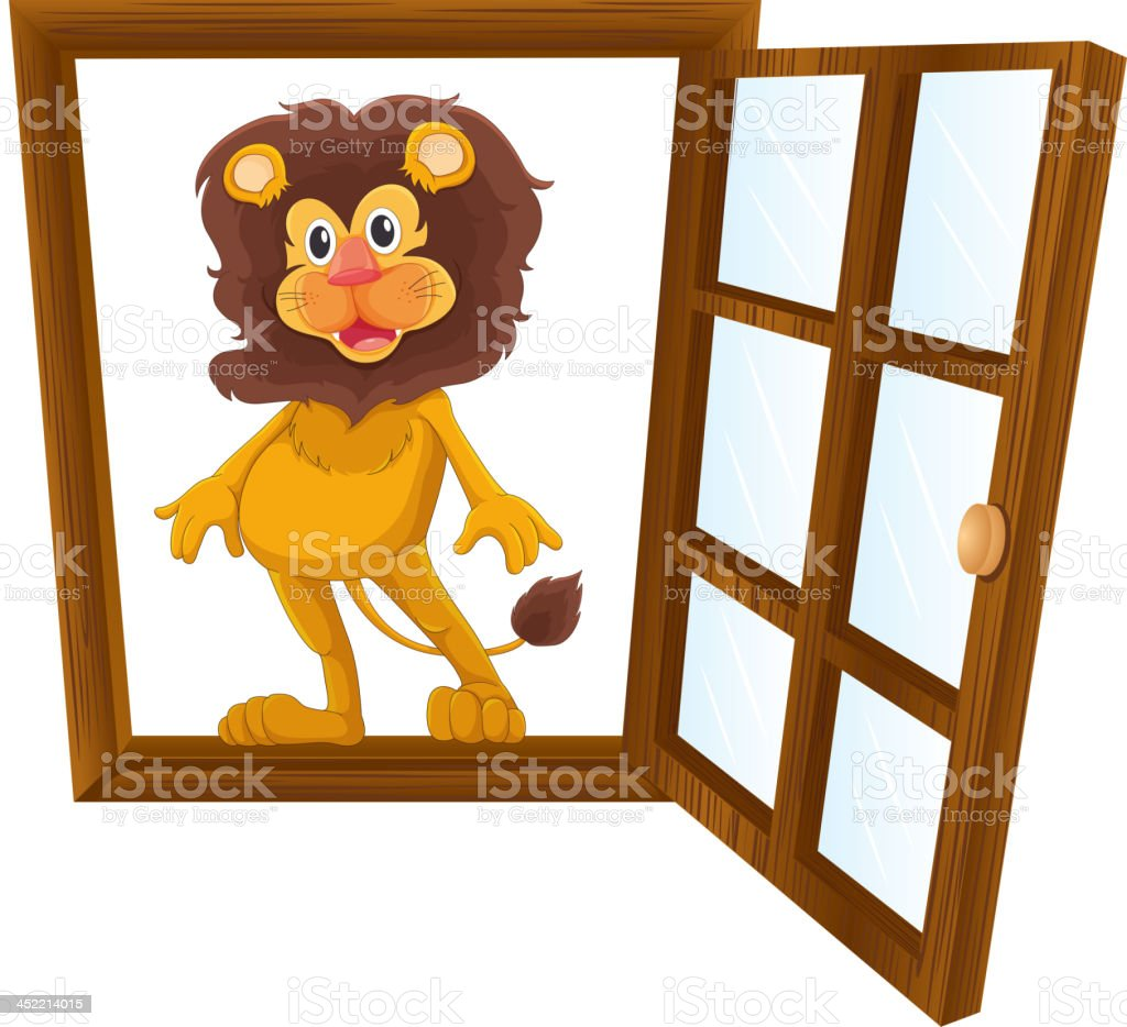 lion in a window royalty-free stock vector art