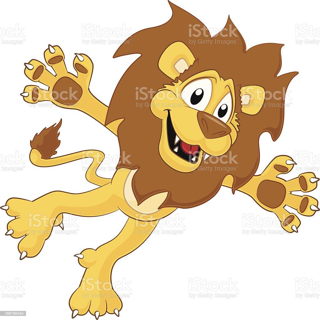 Lion - Jumping! vector art illustration