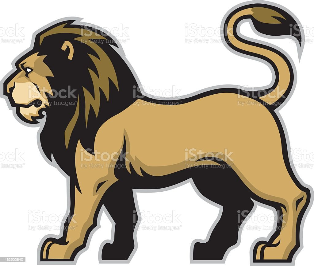 lion mascot vector art illustration