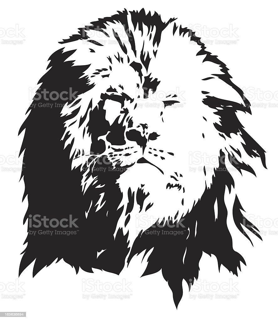 Lion portrait illustration royalty-free stock vector art
