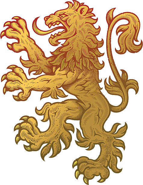Drawing Of The Crest Lion Clip Art, Vector Images & Illustrations ...