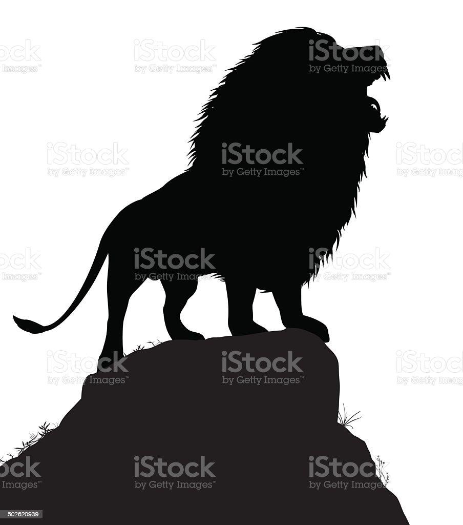Lion roar vector art illustration