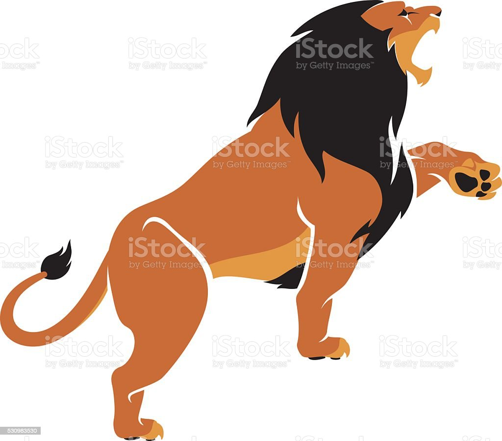Lion Roar vector art illustration