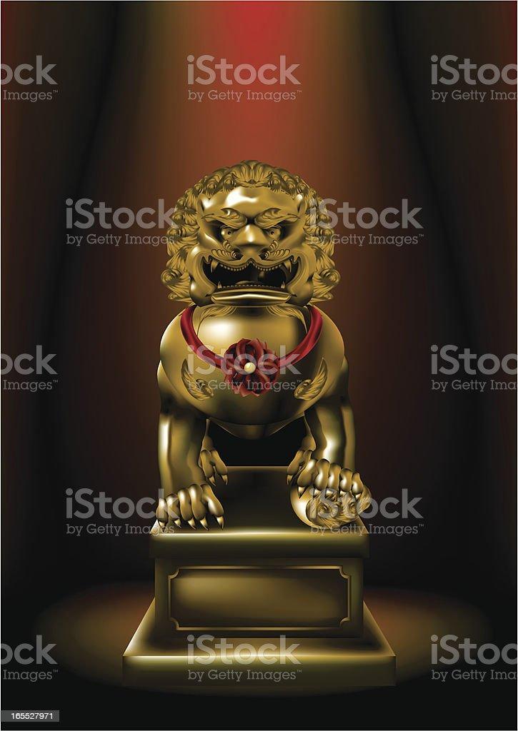 Lion Sculpture royalty-free stock vector art