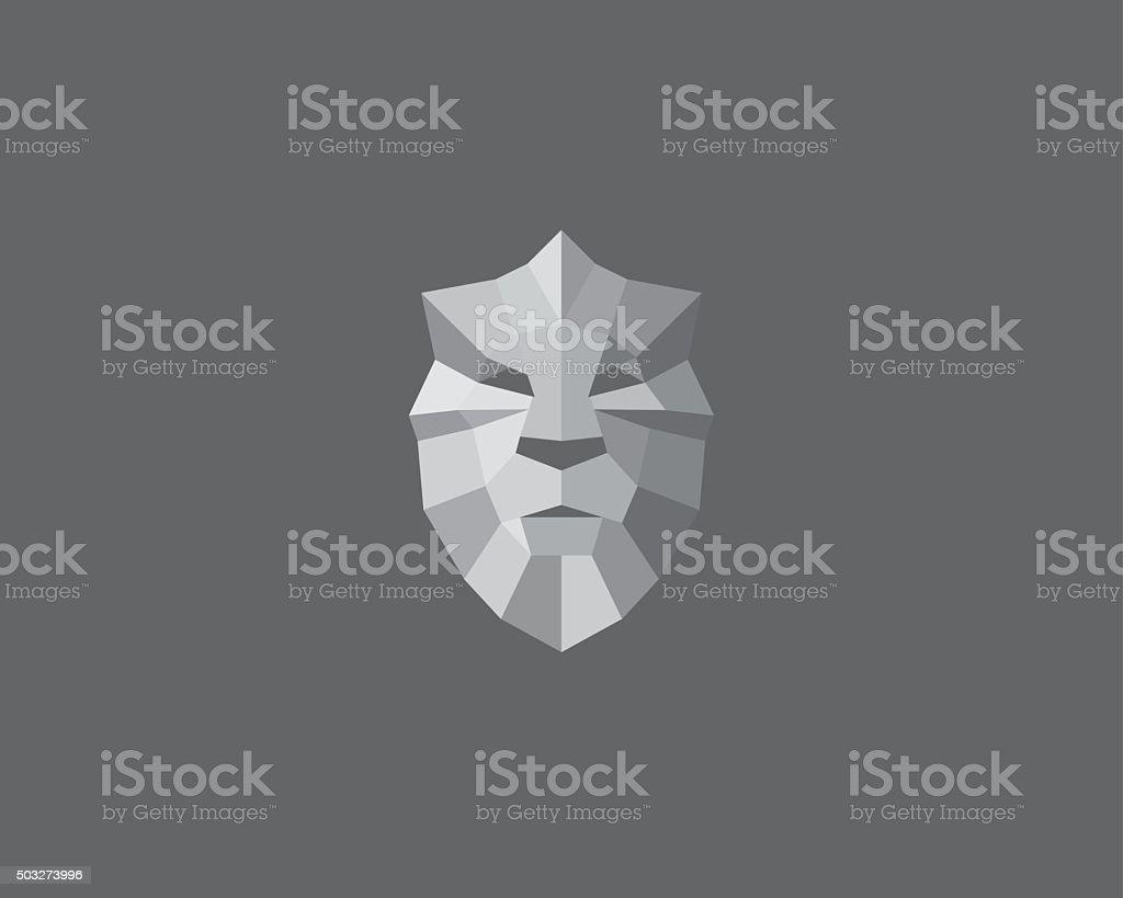 Lion, shield, crown logo design. Art for poster, print, greeting vector art illustration