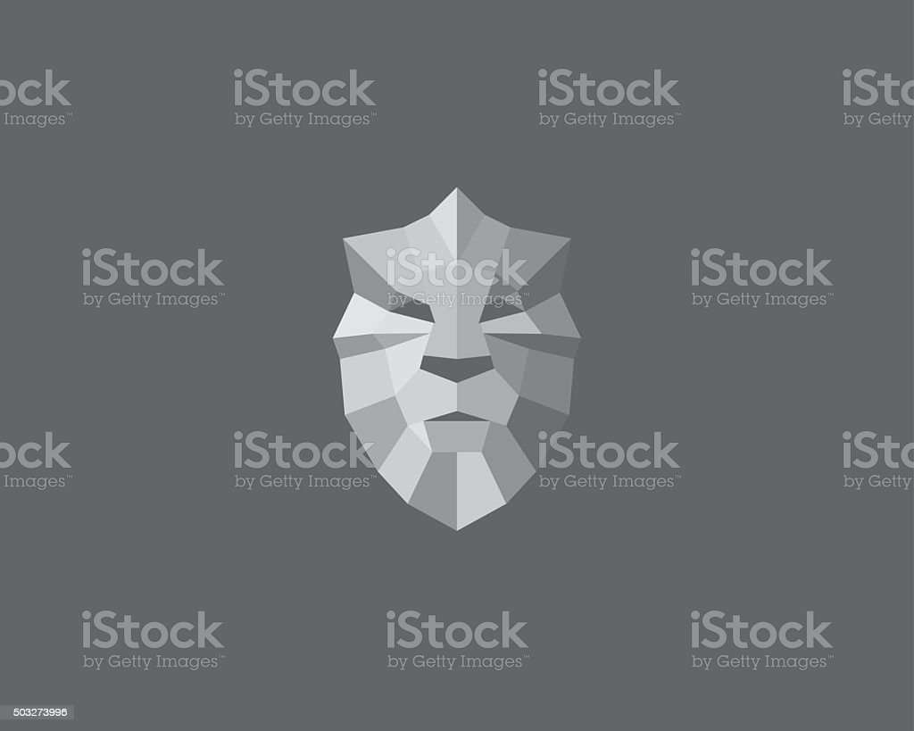 Lion, shield, crown logo design. Art for poster, print, greeting vector art illustration