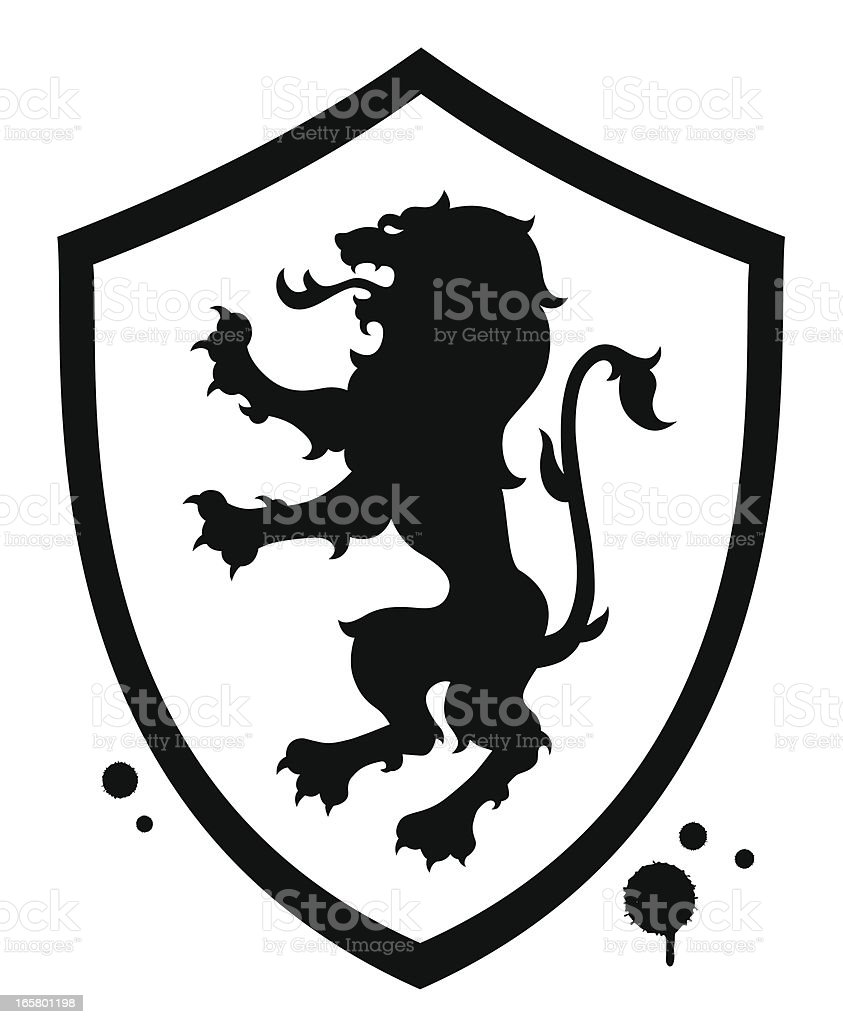 Lion shield royalty-free stock vector art