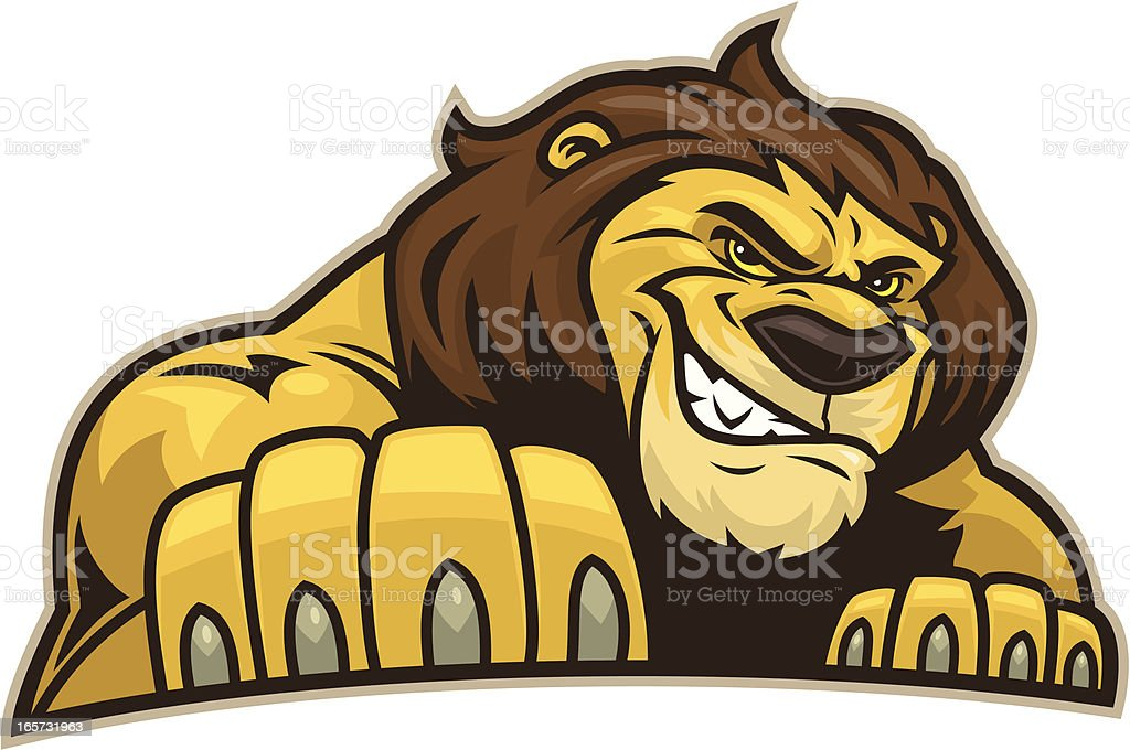 Lion Stance royalty-free stock vector art