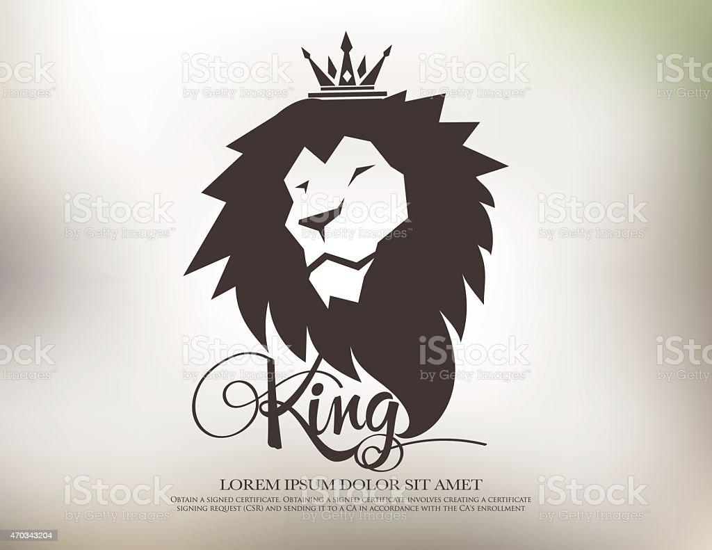 lion symbol logo icon design template elements vector art illustration