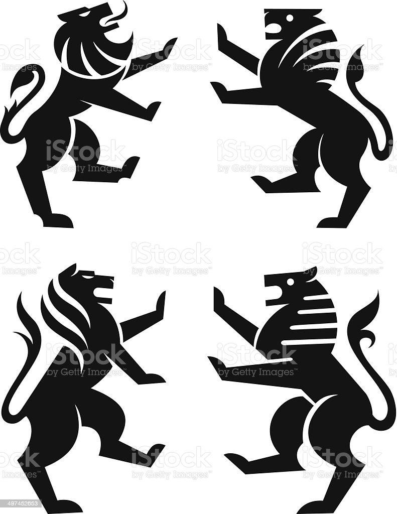 Lion symbols vector art illustration