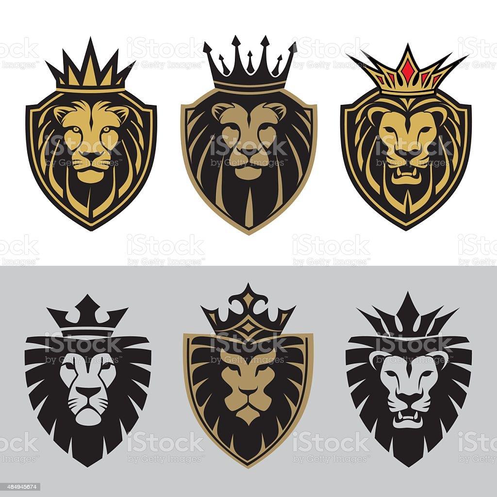 lion5 vector art illustration