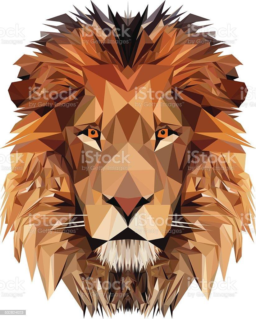 Lion's Head vector art illustration