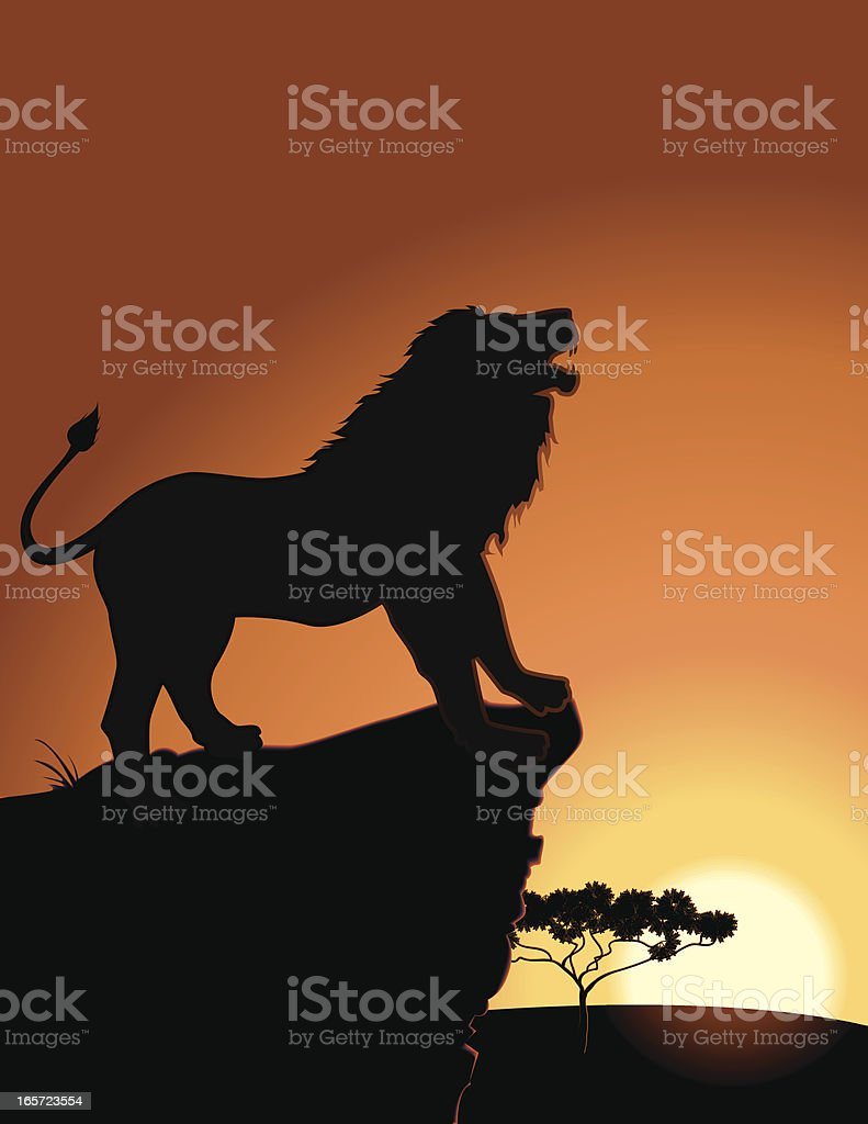 Lion's Roar vector art illustration