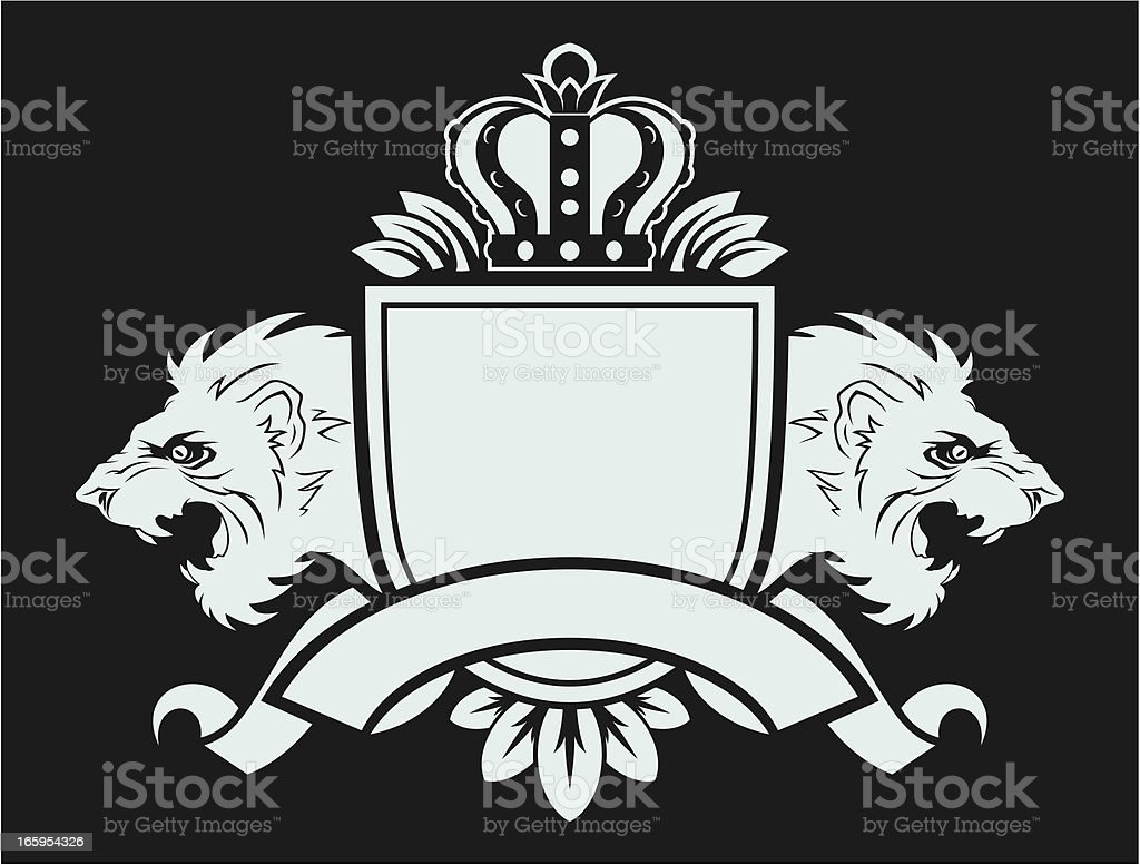Lions shield royalty-free stock vector art