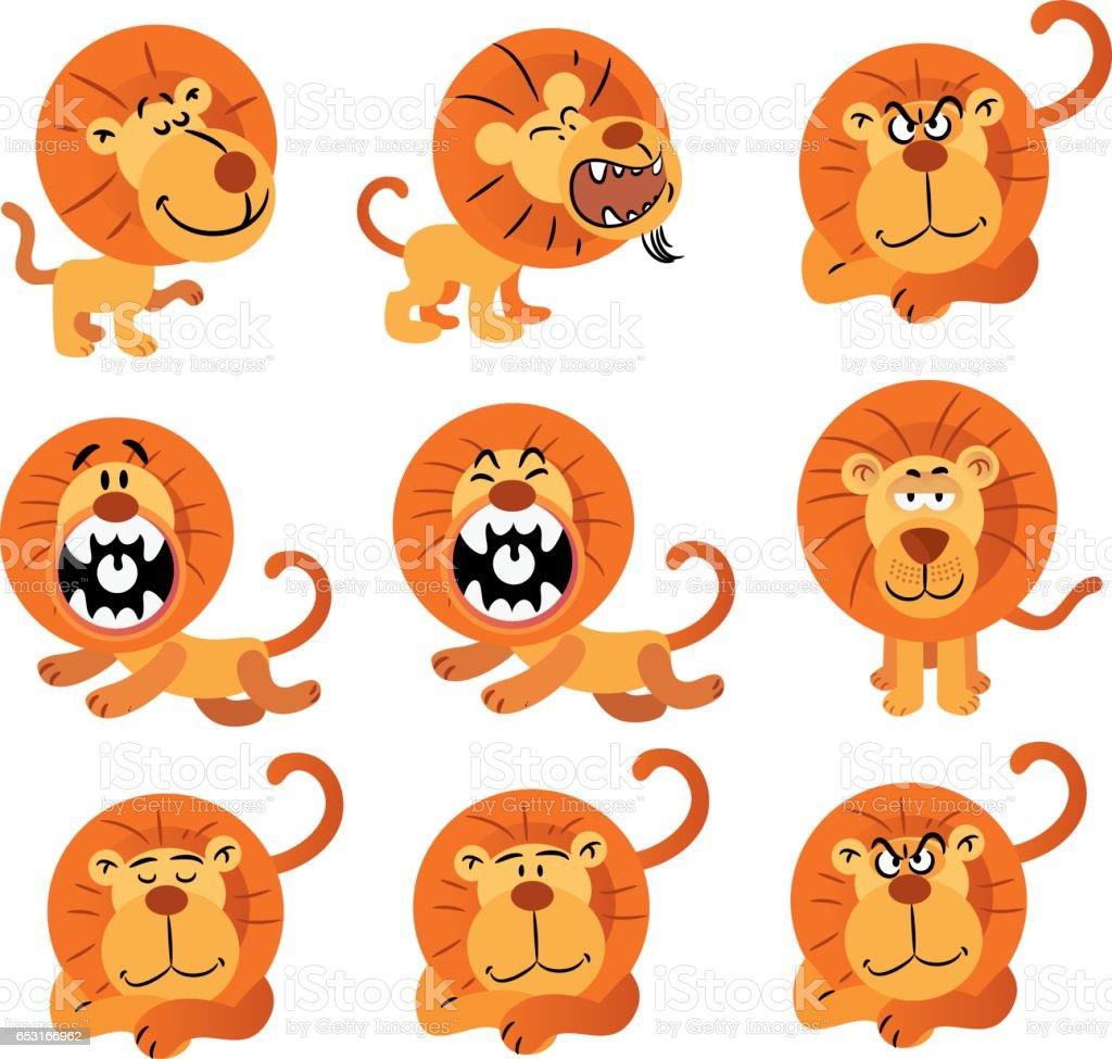 Lions vector art illustration
