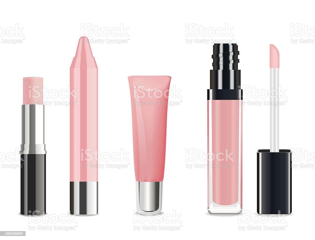Lip gloss. Vector vector art illustration