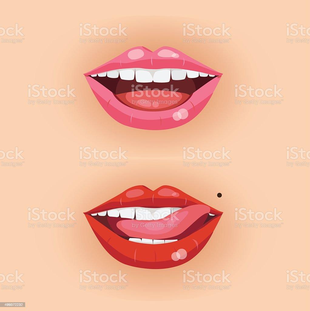 lip3 vector art illustration
