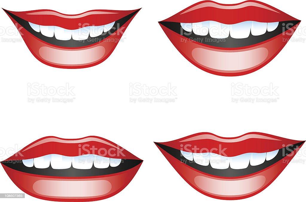 Lips set vector art illustration