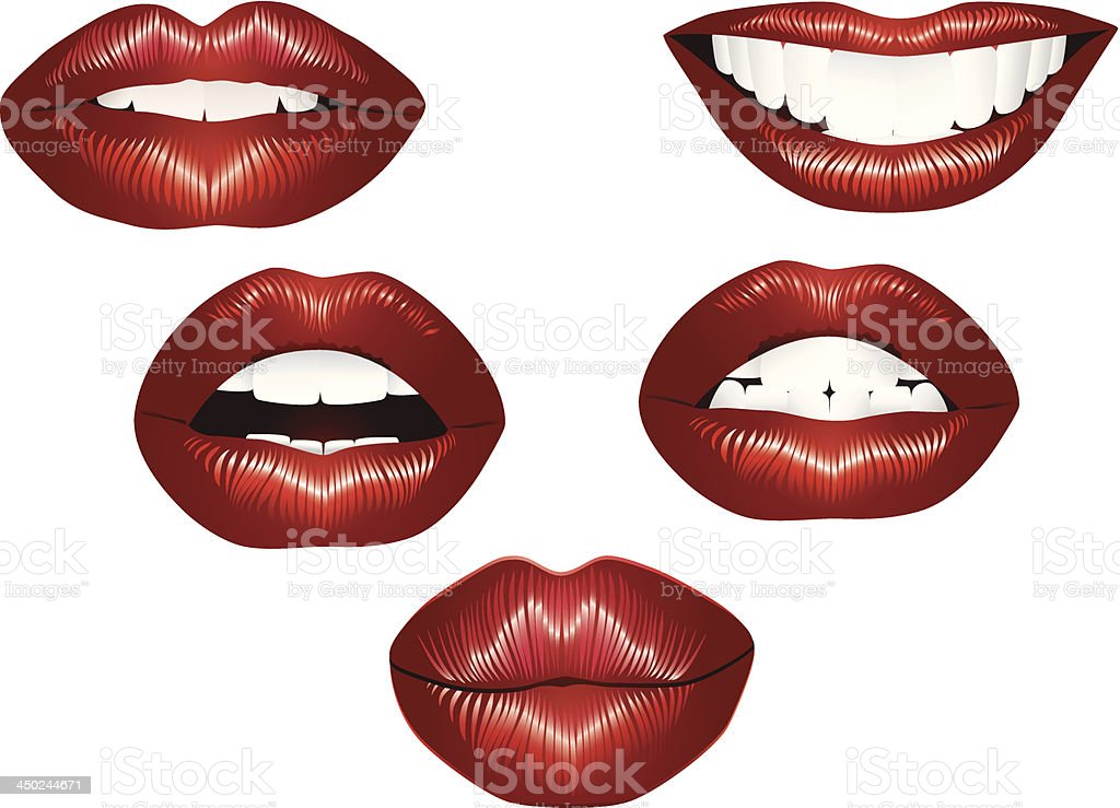 Lips royalty-free stock vector art