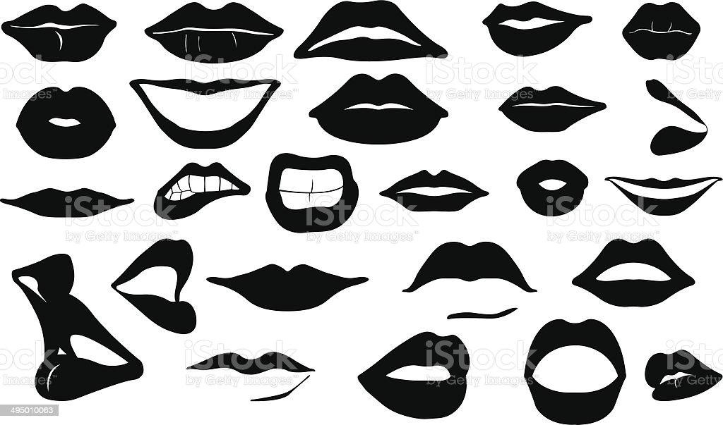 lips vector art illustration