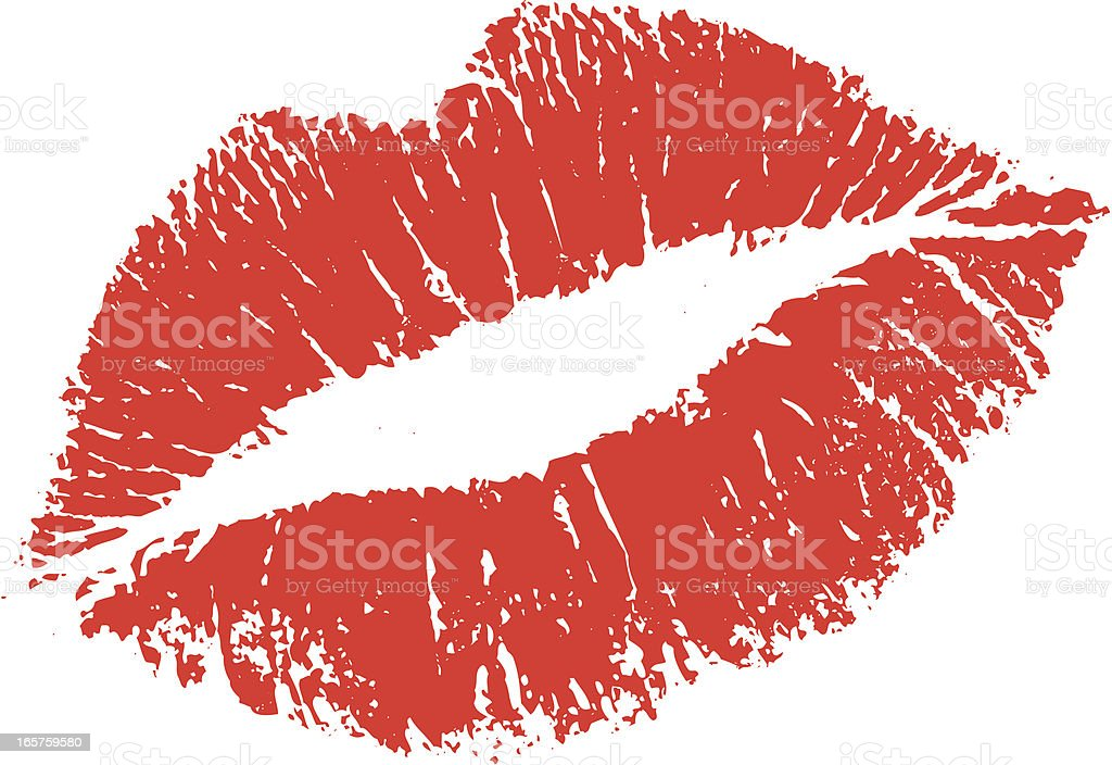 Lipstick Kiss Shape vector art illustration