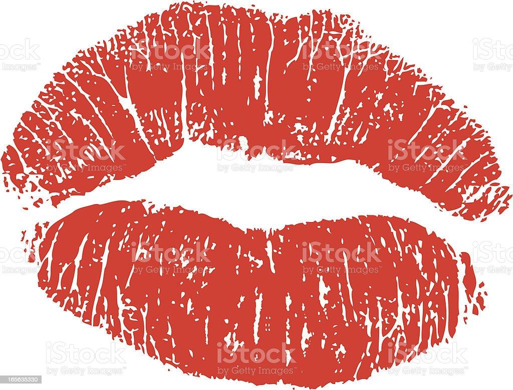 Lipstick Kiss royalty-free stock vector art