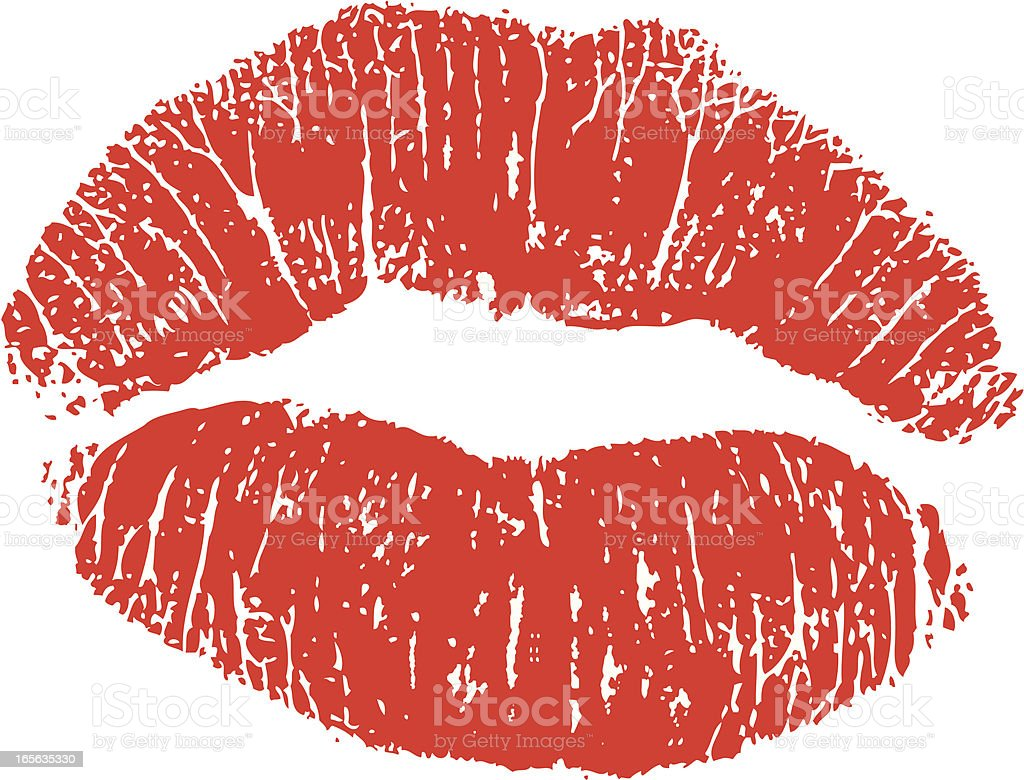 Lipstick Kiss vector art illustration