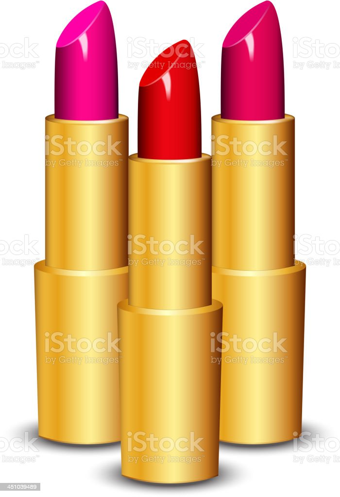 lipsticks royalty-free stock vector art