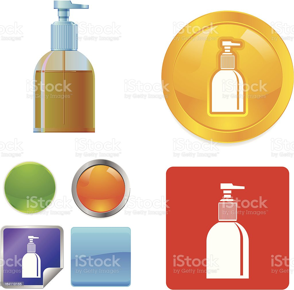 Liquid Cosmetic Container Bottle royalty-free stock vector art