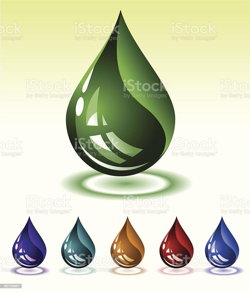 Liquid Drop royalty-free stock vector art