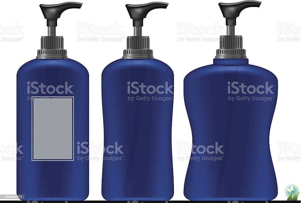 Liquid Soap .Pump Bottle . Ready For Your Design. royalty-free stock vector art