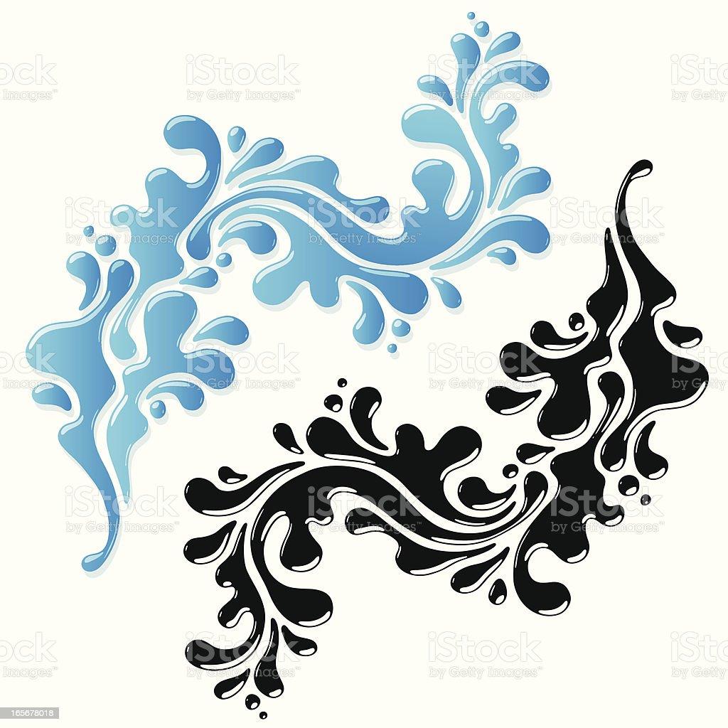 Liquid swirl royalty-free stock vector art