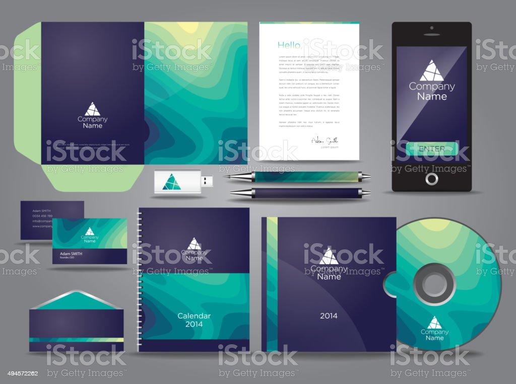 Liquid themed vector graphic business identity vector art illustration