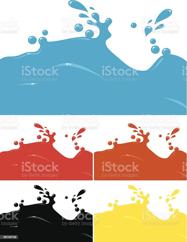 Liquid royalty-free stock vector art