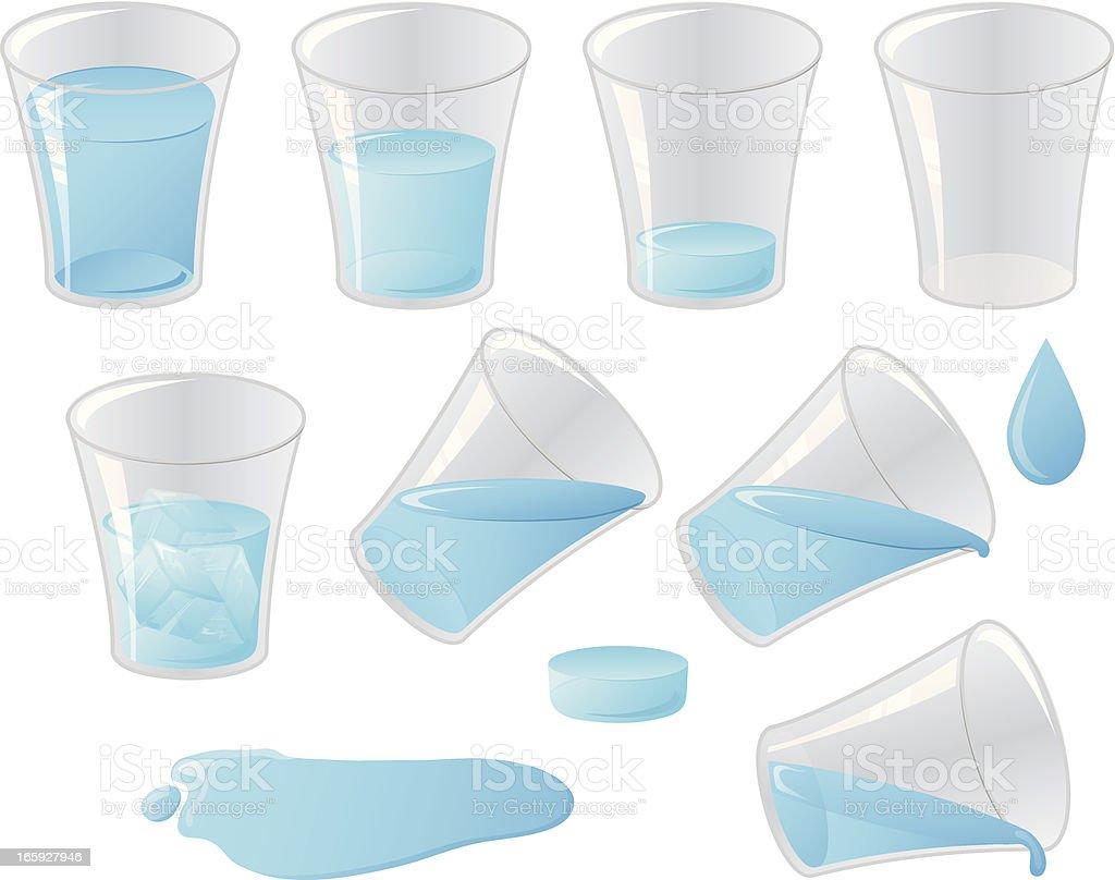 Liquid Water vector art illustration