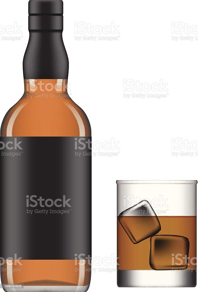 liquor vector art illustration