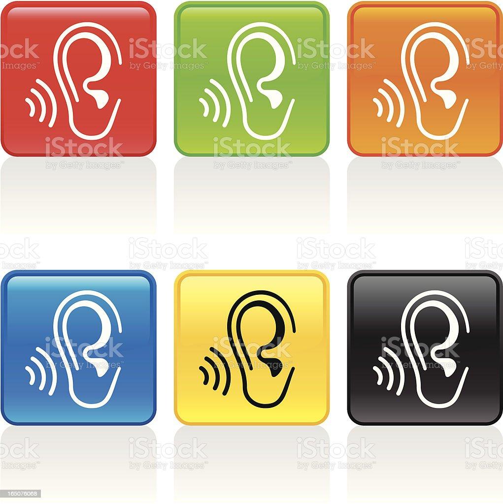 Listen Icon vector art illustration