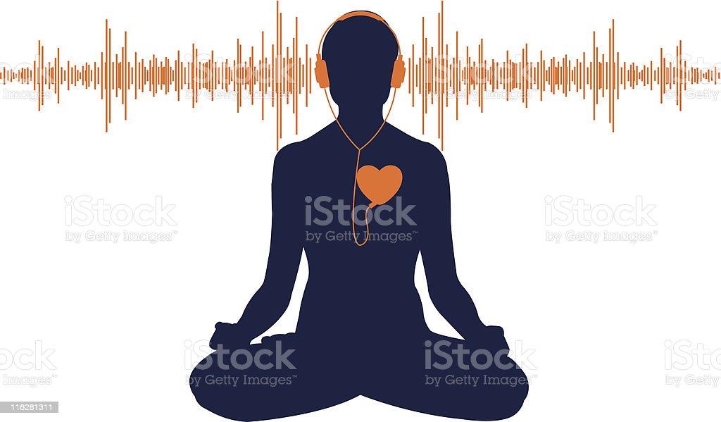 Listen to your heart vector art illustration