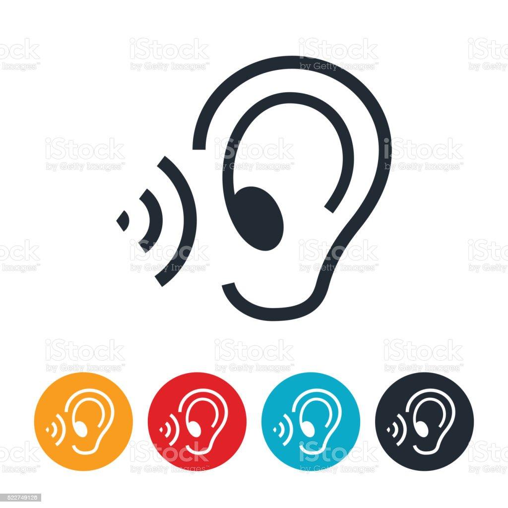 Listening Ear Icon vector art illustration