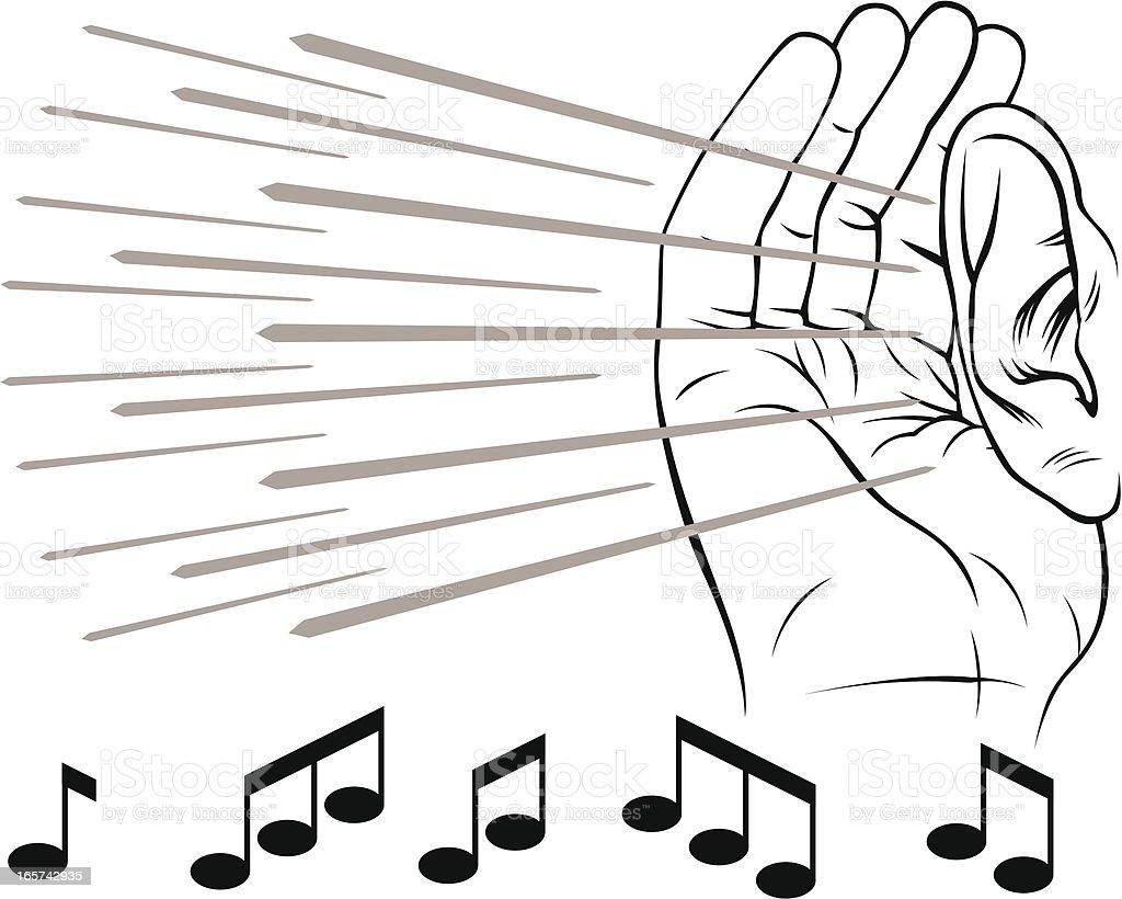 Listening ear vector art illustration