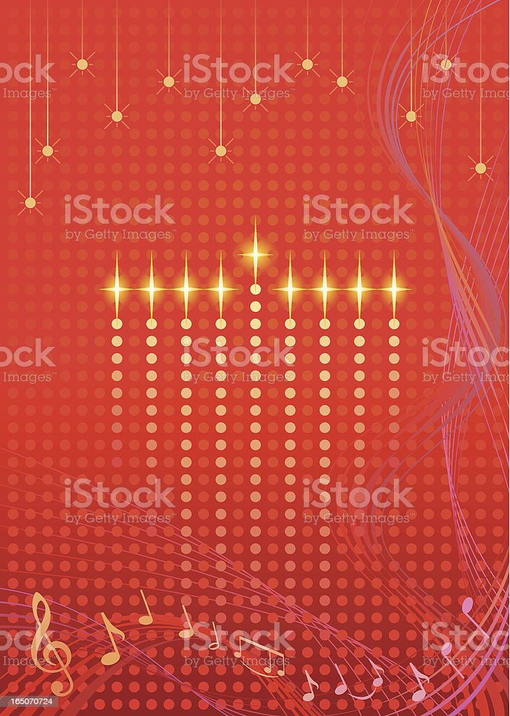 Lit Candles Hanukkah Art Vector royalty-free stock vector art