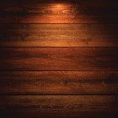 Lit Wooden Background