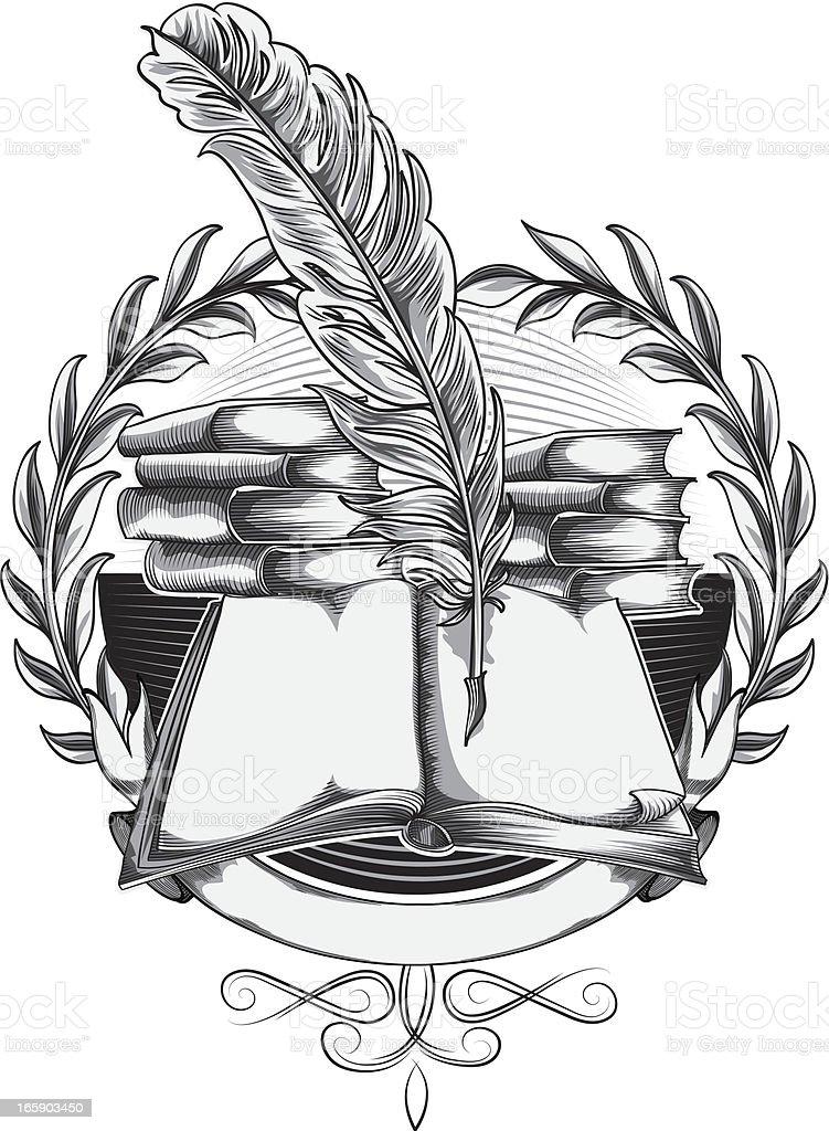 Literature emblem royalty-free stock vector art
