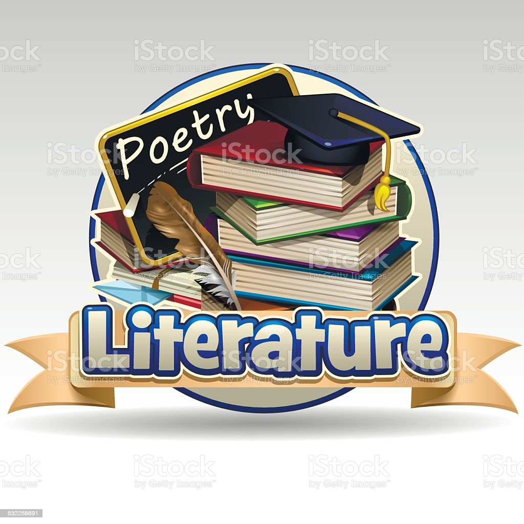 Literature icon vector art illustration