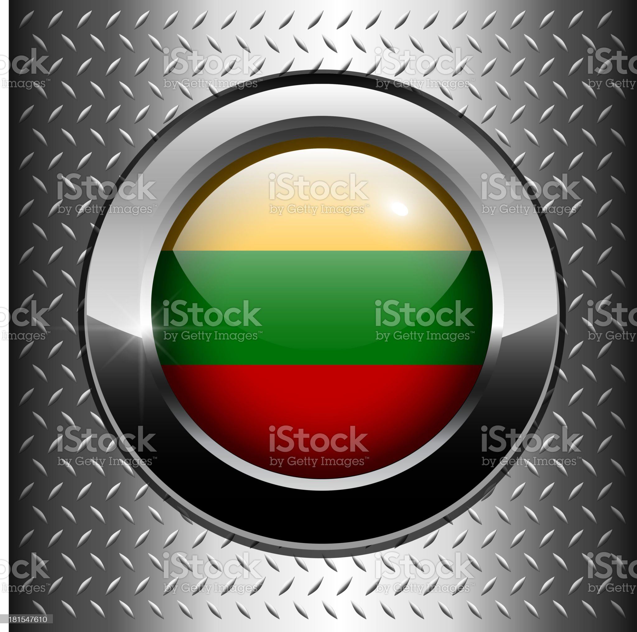 Lithuania flag button royalty-free stock vector art